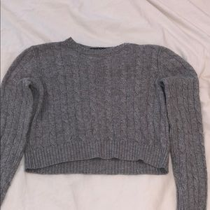Brandy Melville Gray cable knit sweater